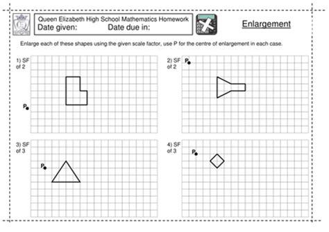 Ks3 Enlargement By A Scale Factor Worksheet By Jlcaseyuk  Uk Teaching Resources Tes