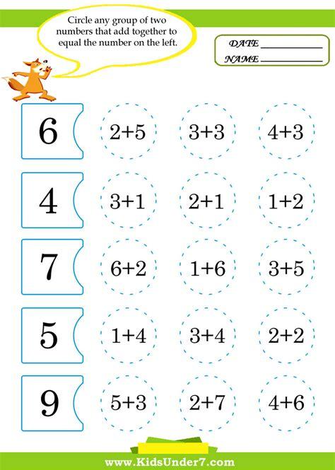 Kids Math Worksheets  Missing Numbers Worksheet Numerals Free Worksheets For Kids Math