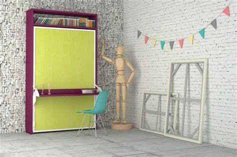 armoire lit escamotable aphrodite avec bureau integre couchage 140 22 200 cm 44 coloris de