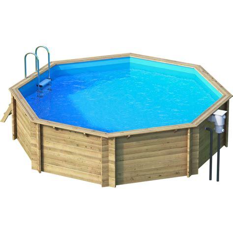 piscine hors sol bois tropic diam 4 14 x h 1 2 m leroy merlin