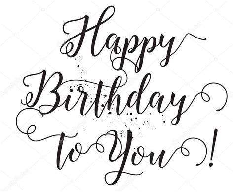Boldog Születésnapot-hoz ön Felirat. Kézzel Rajzolt