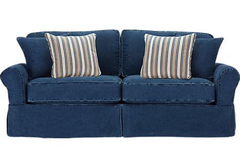home beachside blue denim sleeper sleeper sofas blue