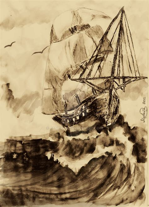 Medieval Boat Drawing by Medieval Ship By Zynnaris On Deviantart