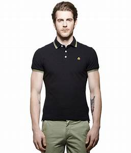 United Colors of Benetton Black Polo Neck T Shirt - Buy ...