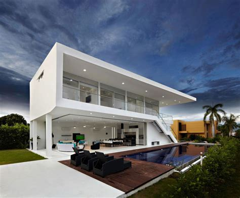 minimalistic house design residence in colombia displaying a minimalist design