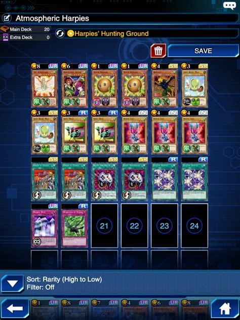 harpie deck duel links 28 images yugioh duel