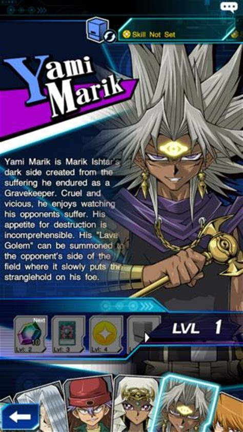 selection page yami marik yugioh duel links gamea