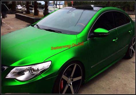 Flexible Chrome Metallic Green Matt Chrome Vinyl Wrap Car