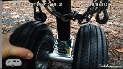 Boat Trailer Jack With Pneumatic Tire by Switch To Dual Pneumatic Wheels For Your Trailer Jack