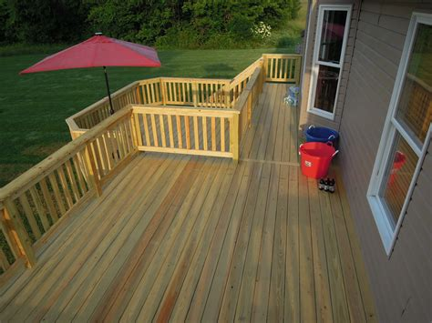 2 tiered pressure treated wood deck new richmond oh area