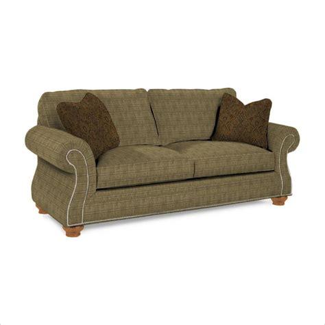 laramie olive sofa with attic heirlooms wood stain 5081 3q1