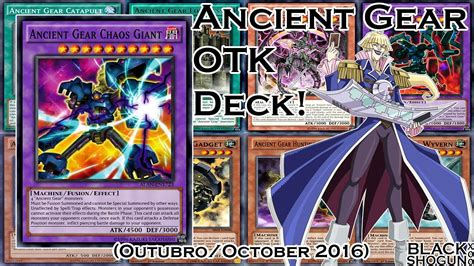 ygopro ancient gear otk deck outubro october 2016
