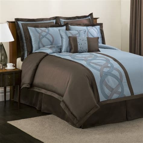 blue and brown bed sets home design inside