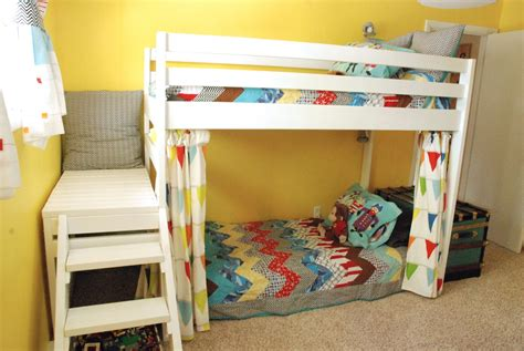 diy loft bunk bed with stairs