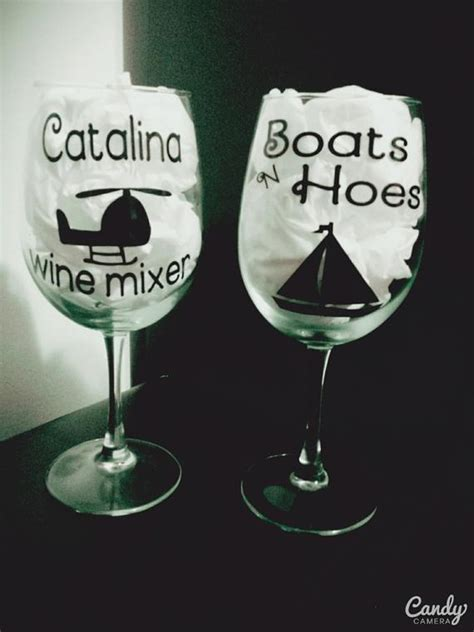 Boats N Hoes Catalina Wine Mixer by Step Brothers Themed Wine Glasses Catalina By