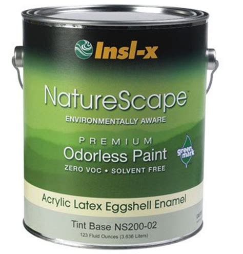 house paint insl x coatings ns200 02 naturescape zero insl x quot naturescape zero eggshell tint
