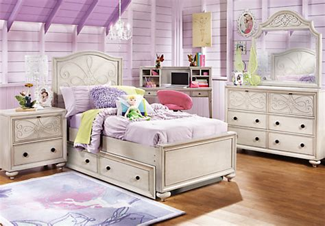 Rooms To Go Kids : Disney Fairies Pc Twin Bedroom-disney Fairies