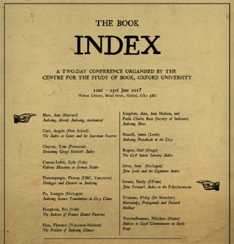 The Book Index Conference