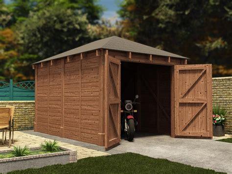 Olympus Single Wooden Garage W32m X D42m Garages