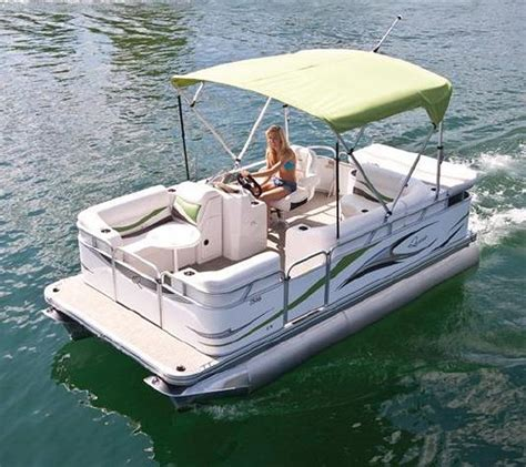 Little Pontoon Boat by Electric Pontoon Boats Bing Images