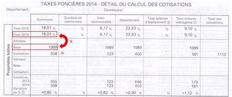 calcul de la taxe fonci 232 re