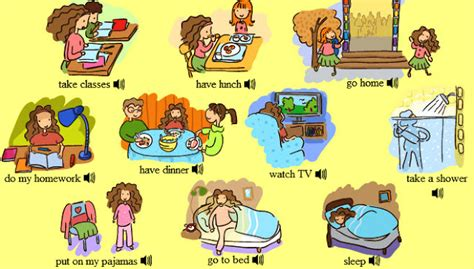English Is Funtastic Daily Routine Vocabulary  Listening Comprehension Exercises Ii