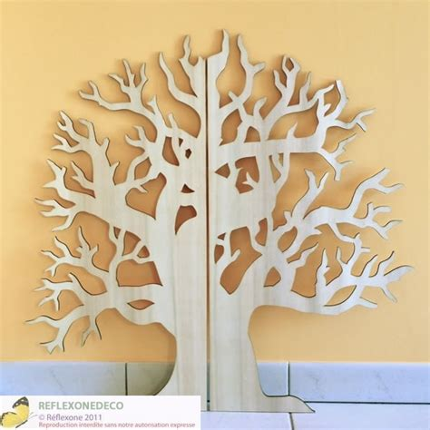 arbre nu 75 cm en bois d 233 coration murale en contreplaqu 233 5