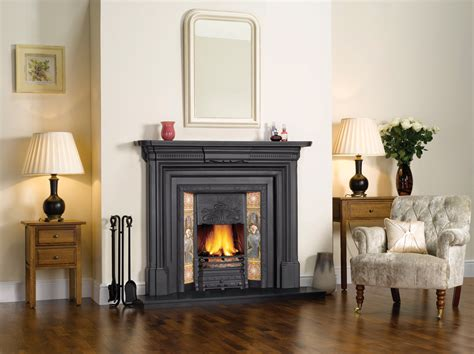 Fire Place : Stovax Art Nouveau Tiled Insert Fireplace
