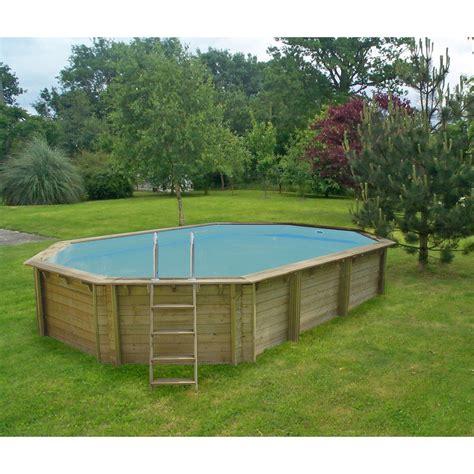 piscine hors sol bois weva procopi octogonale 4 0x6 4x1 46m leroy merlin