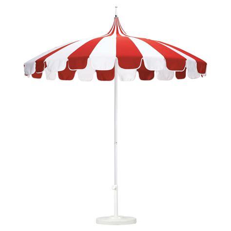 california umbrella pagoda 8 5 ft striped sunbrella patio umbrella patio umbrellas at hayneedle