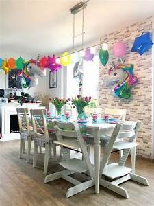 Deko Ideen Kindergeburtstag : ideen kindergeburtstag eine bunte einhorn party ~ Whattoseeinmadrid.com Haus und Dekorationen