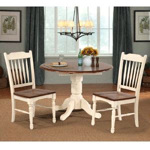 isles 3 dining set drop leaf table with 2 slatback side chairs bernie phyl s