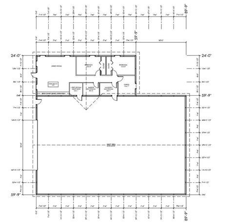 Metal Shop With Living Quarters Floor Plans 40x60 shop with living quarters plan studio design