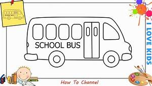 How to draw a school bus EASY step by step for kids ...