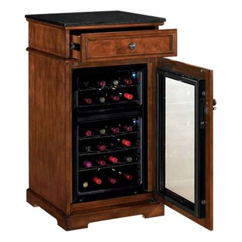 tresanti refrigerated wine cabinet cherry and