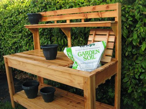 Garden Work Bench Ideas outdoor potting bench lowes designs bench