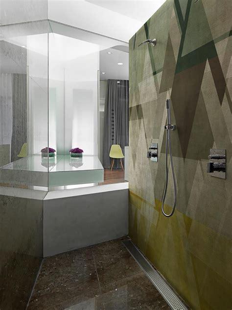 papiers peints cr 233 atifs pour une salle de bain design design feria