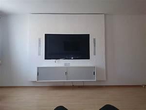 Tv An Wand Anbringen : tvwand tvwand hififorumde bildergalerie ~ Markanthonyermac.com Haus und Dekorationen