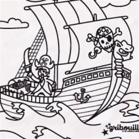 Dessin Animé Bateau Pirate by Jeux De Coloriage Jack Et Les Pirates