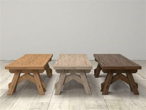 Benson Sawhorse Coffee Table 3d Model  Restoration Hardware