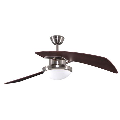 shop allen roth santa 48 in brushed nickel downrod mount indoor ceiling fan with light kit