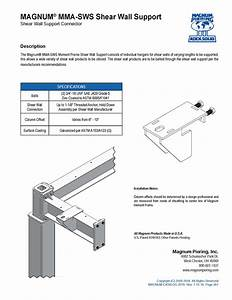 MMA-SWS Shear Wall Support - Magnum PieringMagnum Piering