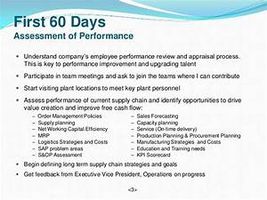 Vice president supply chain - 90 day plan