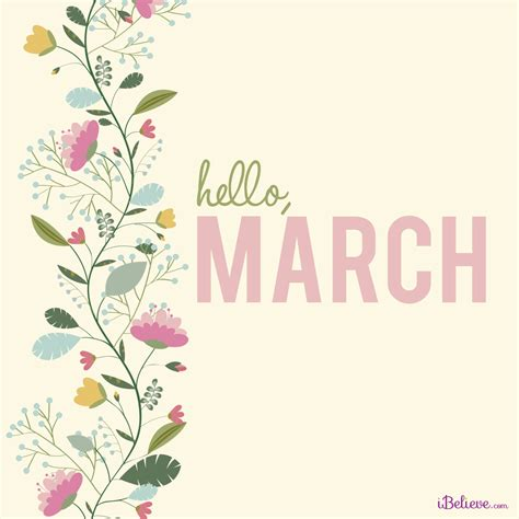 Hello March!  Your Daily Verse