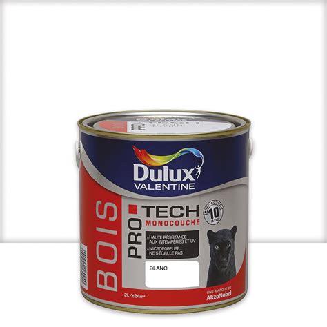 peinture bois ext 233 rieur protech dulux blanc 2 5 l leroy merlin