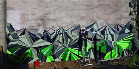 geometric graffiti brings together a beautiful mix of