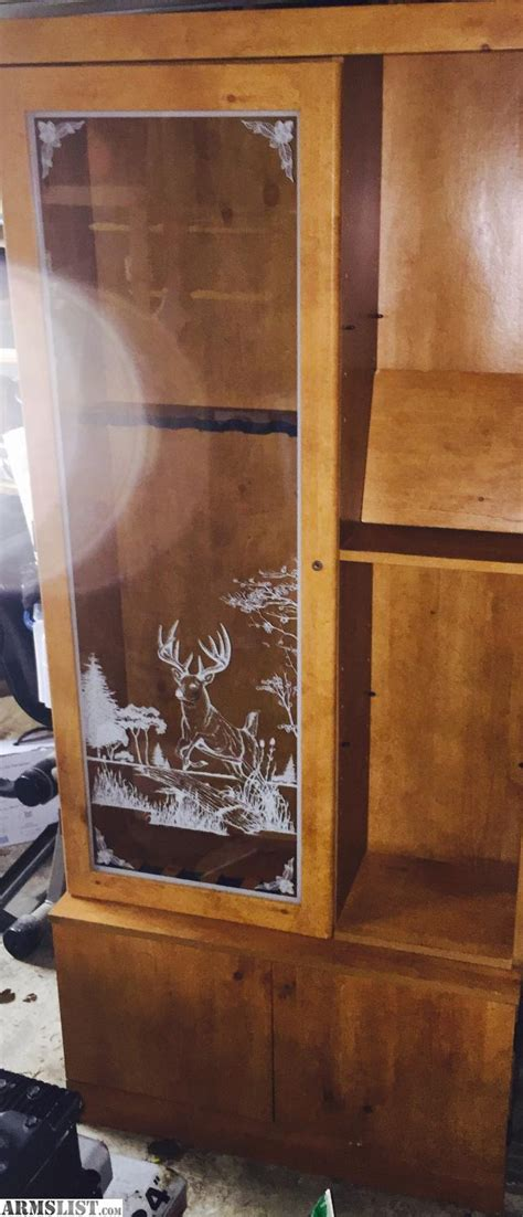 armslist for sale trade glass etched gun cabinet lockable