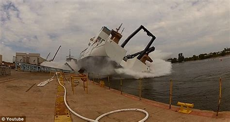 Boat Launch Gone Bad by Dramatic Video Captures Ship Launch Going Horribly Wrong