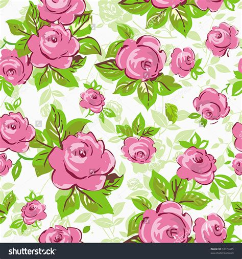 Download Green And Pink Floral Wallpaper Gallery