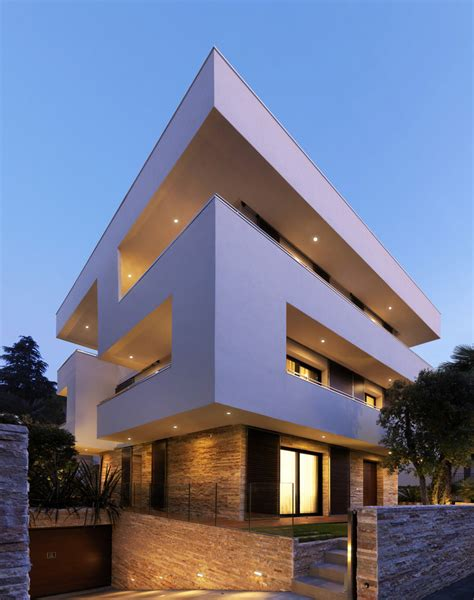 italian home architecture minimalist house design italian maze house with geometric exterior sliding